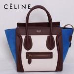 賽琳囧型超時尚女包拼色手提包26cm 88023-9