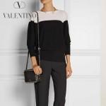 VALENTINO 1927 時尚潮流休閒黑色原版皮鉚釘方塊包單肩小包