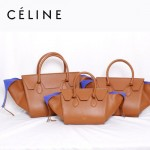 CELINE 88093-4 新款潮流時尚棕色(小號)女包手提包蝙蝠包