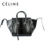 CELINE 88033-23 新款大牌蛇紋小牛皮女士時尚手提蝙蝠包