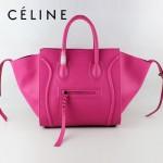 CELINE 88033-18 新款大牌梅紅原版皮小牛皮女士時尚手提蝙蝠包