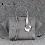CELINE 88033-24 新款大牌碳灰原版皮(超纖裏)小牛皮女士時尚手提蝙蝠包