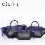 CELINE 88093-2 新款深蘭配黑法拉利(小號)女包手提包蝙蝠包