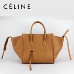 CELINE 88033-26 新款大牌駝色小牛皮女士時尚手提蝙蝠包