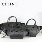 CELINE 88091-1 新款高檔時尚潮流黑色鳄魚紋配黑色(大號)大氣女包女士手提包