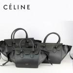 CELINE 88092 新款潮流時尚黑色鱷魚紋配黑色(中)女包手提包蝙蝠包
