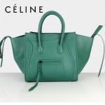 CELINE 88033-19 新款大牌墨綠小牛皮女士時尚手提蝙蝠包
