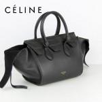 CELINE 88093 新款女士黑色鳄魚紋配黑色法拉利(小號)女包手提包蝙蝠包