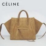 CELINE 88033-25 新款大牌土黃磨砂小牛皮女士時尚手提蝙蝠包