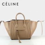 CELINE 88033-28 新款大牌蝦粉色小牛皮女士時尚手提蝙蝠包