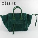 CELINE 88033-21 新款大牌墨綠磨砂小牛皮女士時尚手提蝙蝠包