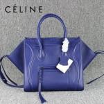 CELINE 88033-30 明星款大牌紫羅蘭原版皮(超纖裏)小牛皮女士時尚手提蝙蝠包