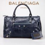 BALENCIAGA 085324A-寶藍 巴黎世家女士手提包 時尚單肩包