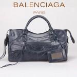 BALENCIAGA 085328 -寶藍色進口小釘 巴黎世家女士時尚手提包 氣質單肩包
