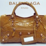 BALENCIAGA 084328B-6-駝色玫瑰金-羊皮 巴黎世家 女士時尚手提包