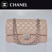 CHANEL 1113-13 爆款經典粉色銀鏈羊皮2.55菱格時尚晚宴鏈條包單肩包