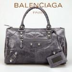 BALENCIAGA 085324A-2-深灰色 巴黎世家女士時尚氣質手提包