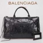 BALENCIAGA 085324S-1-寶藍進口小釘 巴黎世家女士時尚氣質手提包