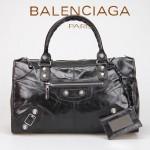 BALENCIAGA 085324A-1-黑色 巴黎世家女士時尚氣質手提包