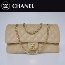 CHANEL 1113-31 歐美奢侈品牌魚子醬皮杏色金鏈女包單肩斜挎包
