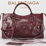 BALENCIAGA 332-3-紫色-羊皮 巴黎世家時尚手提包 女士單肩包