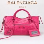BALENCIAGA 085328-6 -深灰進口小釘 巴黎世家女士時尚手提包 氣質單肩包