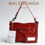 BALENCIAGA 084980-紅色 巴黎世家女士手提包 時尚單肩包