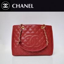 CHANEL 50995-11 歐美經典款棗紅色金鏈手提包菱格紋單肩包