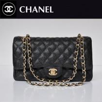 CHANEL 1112-13 新款黑色球紋金鏈2.55小香包菱格鏈條包單肩手提女包包