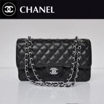 CHANEL 1112-14 新款黑色球紋銀鏈2.55小香包菱格鏈條包單肩手提女包包
