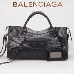 BALENCIAGA 085328-2 -黑色進口小釘 巴黎世家女士時尚手提包 氣質單肩包