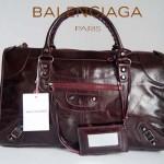 BALENCIAGA 084324-3-紫色 進口皮 巴黎世家 女士時尚手提包