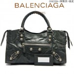 BALENCIAGA 084328A-1-深銀灰-羊皮 巴黎世家 女士時尚手提包