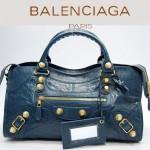 BALENCIAGA 084328B-寶藍色-羊皮 巴黎世家 女士時尚手提包