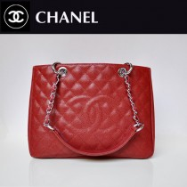 CHANEL 50995-12 歐美經典款棗紅色銀鏈球紋手提包菱格紋單肩包