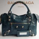 BALENCIAGA 084332A寶藍 進口皮 巴黎世家女士手提包 時尚單肩包