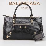 BALENCIAGA 085324B-1-黑色 大金釘 巴黎世家女士時尚氣質手提包