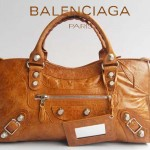BALENCIAGA 084328A-2-深銀灰-羊皮 巴黎世家 女士時尚手提包