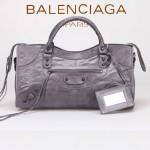 BALENCIAGA 085328-5 -深灰進口小釘 巴黎世家女士時尚手提包 氣質單肩包