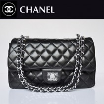 CHANEL 1112-16 新款黑色銀鏈羊皮2.55小香包菱格鏈條包單肩手提女包包