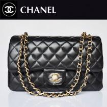 CHANEL 1112-15 新款黑色金鏈羊皮2.55小香包菱格鏈條包單肩手提女包包