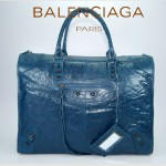 BALENCIAGA 084334 寶藍羊皮 巴黎世家大號女士時尚手提包