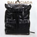 BALENCIAGA 209391 潮流時尚新款男女款黑色牛皮束口雙肩包背包