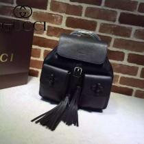 新款Gucci 370833 專櫃品質,原版皮質,實物實拍!黑色雙肩包