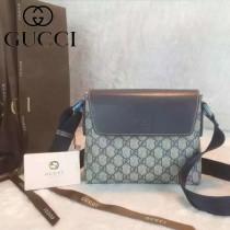 GUCCI 353431-3 時尚潮流新款中性藍色PVC單肩斜挎包