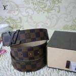 LV-皮帶01 咖色LV扣咖色棋盤格原版皮皮帶