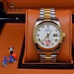 ROLEX-06-6 人氣熱銷商務男士間金系列日誌型藍寶石鏡面鋼帶款腕錶