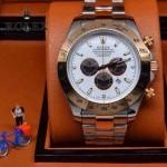 ROLEX-010-6 歐美新款宇宙型迪通拿間玫瑰金系列大錶盤鋼帶款腕錶