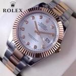 ROLEX-07-22 時尚新款商務男士間玫瑰金系列日誌型藍寶石鏡面鋼帶腕錶
