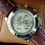 ROLEX-012-6 新款商務男士宇宙型迪通拿間金外圈皮帶款腕錶